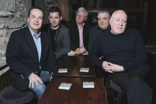From left-to-right: Tony Macaulay; Jamie O'Connell; Seamus Hosey; Cónal Creedon; and mise